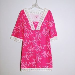 Lilly Pulitzer Sherman coral print dress